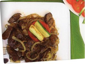 Sweet and sour stirred fried Liver